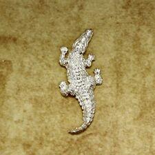 Large Alligator Brooch in Sterling Silver