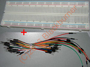 1-2 MB102 830 Kontakte Steckboard Steckbrett Breadboard + Jumper Wire Kabel Set