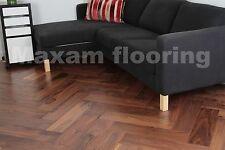 Migliore Qualità!!! laccato noce americana a spina di pesce reale pavimento in legno HW1802