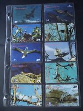 2001 FERNANDO DE NORONHA - FAUNA Set of 10 Different Phone Cards from Brazil