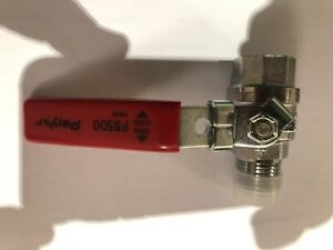 "Pegler PB500 1/2"" BSP Chrome Lever Ball Valves WRAS Approved - Red Handled Only"