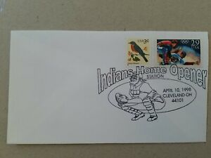 US 1998 Indians Home Opener BASEBALL  COVER , Cleveland Indians