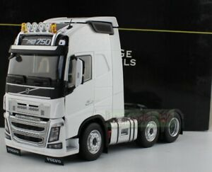 1/32 MARGE MODELS VOLVO FH16 6x2 Heavy Duty Truck Tractor 750 White Diecast