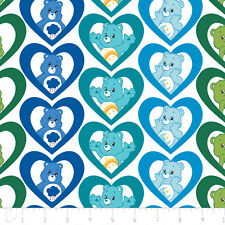 Care Bears Cool Hearts Turquoise Camelot 100% cotton fabric by the yard