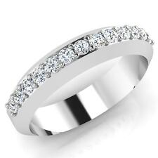 0.39 Ct Mens Real SI1 Diamond Engagement Ring 14K White Gold Band SI1 Size 9