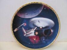 """STAR TREK/Hamilton Collection USS Enterprise NCC-1701 8"""" Collector Plate w/COA"""