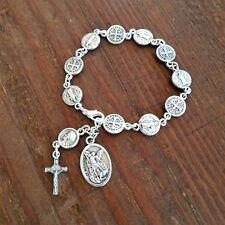 Catholic Rosary Bracelet St Benedict Medals Saint Michael Chaplet San Benito