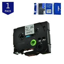 Black on White Label Tape Compatible for Brother TZe-231 Tze 231 12mm PT200/300