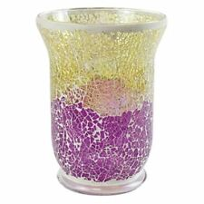 Yankee Candle Purple and Gold Crackle Mosaic Large Jar Holder NEW