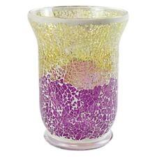 Yankee Candle morado y dorado Crackle Mosaico tarro grande Soporte NUEVO