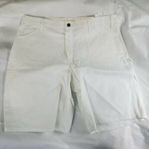 Dickies White Painters Shorts Men's Thick 34 Or 38