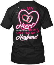 Heart Beats For My Husband Hanes Tagless Tee T-Shirt
