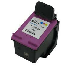 HP 60XL Color CC644W Reman Ink Cart 33% More Ink D2500 D2530 F4230 F4235 F4250