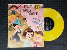 Vintage Golden Record Polly Wolly Doodle & Happy Wanderer Yellow Record 78 rpm