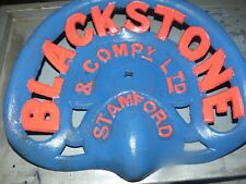 4TH BLACKSTONE STAMFORD VINTAGE   CAST IRON TRACTOR IMPLEMENT SEAT COLLECTIBLES