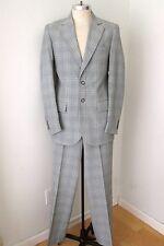 MINTY Vtg 70s Vegas Baby! Farah Gray Plaid Polyester 2-Pc Disco Pimp Suit 40L
