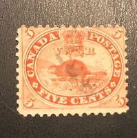 Canada Stamp # 15 Used $38 NG VLH