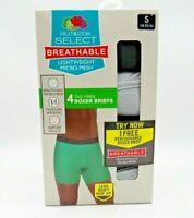 Fruit of The Loom Men's 4-Pk Breathable Micro Mesh Boxer Briefs + Bonus