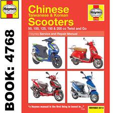 Chinos taiwaneses Coreano 50cc 125cc 150cc Motonetas Haynes Manual de taller