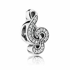 Pandora Charm Sweet Music, Clear Cubic Zirconia 791381CZ with Gift Box