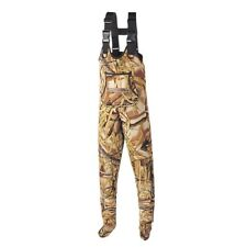 Kobuk Youth Neoprene Stocking Foot Wader Wetlands Camo Sz Large Made In USA