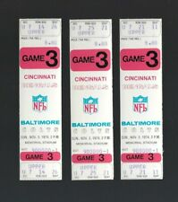 VINTAGE 1974 NFL CINCINNATI BENGALS @ BALTIMORE COLTS FULL FOOTBALL TICKET