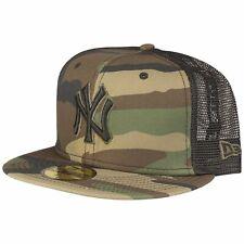 New Era 59Fifty Fitted Cap TRUCKER MESH NY Yankees wood camo