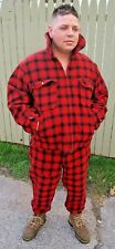 Vintage Men's Woolrich Red LumberJack Buffalo Plaid Hunting Jacket & Pants Large