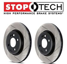 NEW Mercedes W203 W208 W209 W210 Pair Set of Front StopTech Slotted Brake Rotors