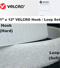 "1"" X 12"" VELCRO Hook & Loop Sew On Fastener Set White, Multi-Units Shipped Uncut"