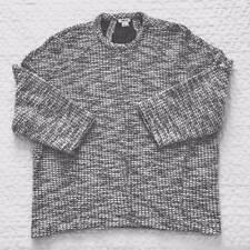 Helmut Lang Women's Oversize Pullover Sweater, Cotton/Wool Blend, Size L