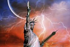 "perfact 36x24 oil painting handpainted on canvas ""statue of liberty""N3215"