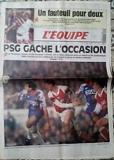 L'Equipe Journal du 13/4/1994; Le PSG laisse la place à Arsenal/ Monaco-Barcelon