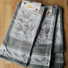 3 x Spültücher Geschirrtücher Grün Mediteran 50x70cm Oliven Clayre & Eef Towel