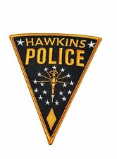 "Stranger Things TV Series Hawkins Police Logo 5"" Tall Embroidered Patch"