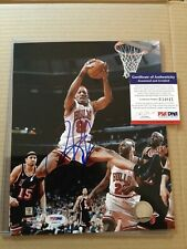 Dennis Rodman Signed Basketball Photo - PSA DNA Authenticated