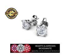1.00 Carat Moissanite Hearts & Arrows Stud Earrings in 14K Gold