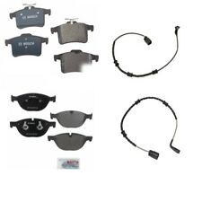 For Jaguar XF XJ 10-15 Bosch Quietcast Front & Rear Brake Pads w/ Sensors BP1448