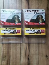 Frontline Plus Dog Value Pack Flea Tick Lice Treatment lot 2 X 8 = 16 Doses $160