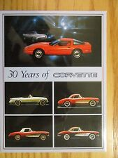Lot of 13 Different Corvette Large Postcards Original Excellent Condition