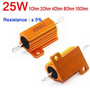 Tube Amp Test Dummy Load 1ohm/2ohm/4ohm/8ohm 8R 25W Watt Power Metal Resistor