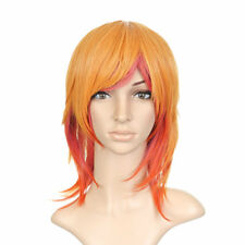 Blonde and Pink Shoulder Length Anime Cosplay Costume Wig