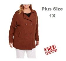 f10181ead2855 New Maxwell Studio Women s Plus-Size A-Line Boucle Peacoat Size 1X