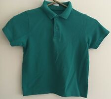 Two Unisex Green Short Sleeved Polo Tops Size 5 Years