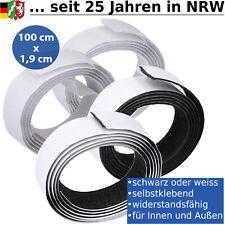 Klettband Selbstklebend 1,00 m Extra Stark Klettverschluss Klebepad