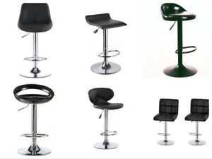 2PCS Low Price  Modern hot selling PU leather adjustable bar stool  Gas Lift