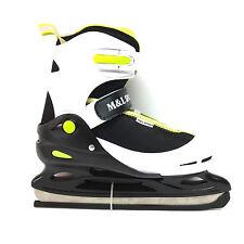M&L Sport Kid Eislauf Schlittschuhe   30-33 Größen verstellbar Freizeit Semisoft