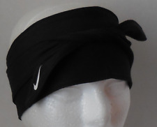 NIKE Adult Unisex DRI-FIT Bandana Head Tie Color Black/White Size OSFM New