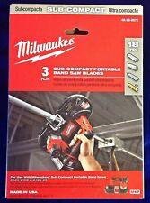 27 X 12 18t Sub Compact Portable Band Saw Blade 3 Pk Milwaukee 48 39 0572