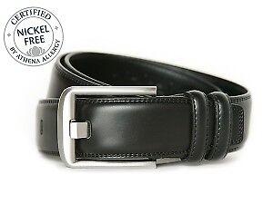 Nickel Smart Black Wide Pin Belt
